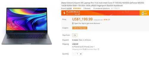 Xiaomi Mi Notebook Pro за 4600 злотых - один из лучших ноутбуков для работы и развлечений