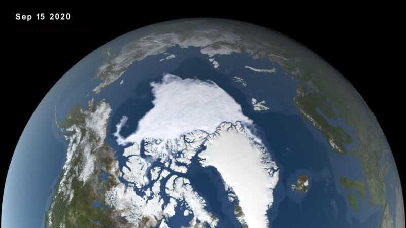 Вид на Землю из космоса.