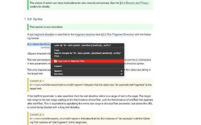 Новая функция Google Chrome создает ссылки на определенный текст на странице.