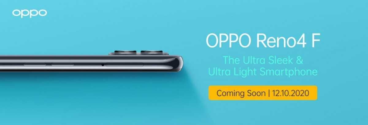 Oppo Reno4 F будет представлен в Индонезии 12 октября