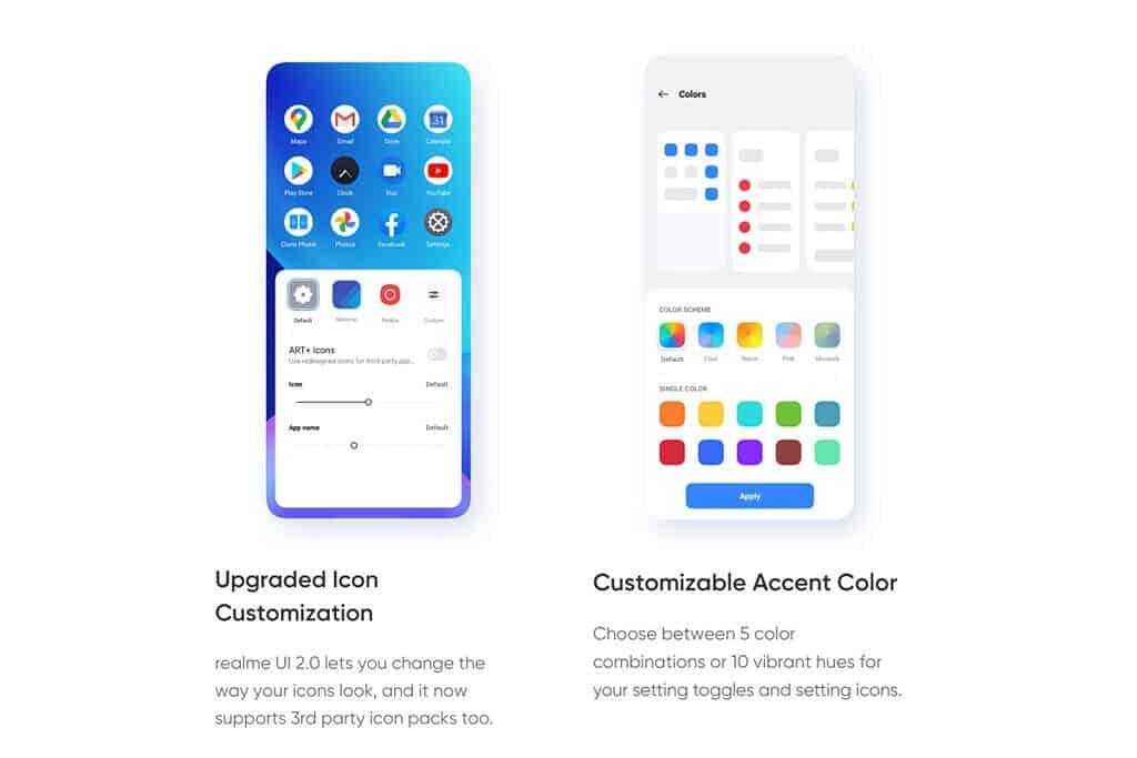 Realme UI 2.0 поставляется с некоторыми функциями ColorOS 11