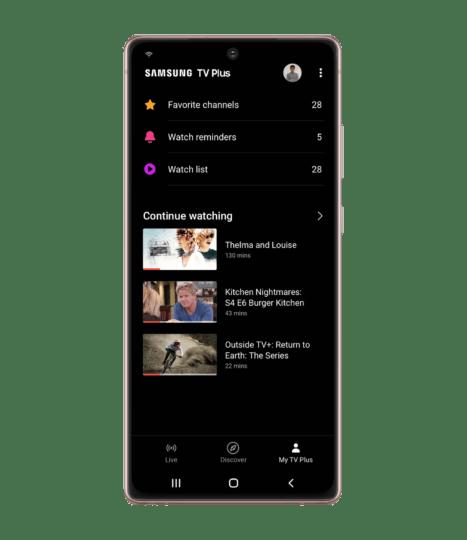 Смотрите бесплатные телепередачи на своем телефоне Galaxy с новым приложением Samsung TV Plus