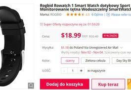 Водонепроницаемые умные часы с хорошей батареей за 74 злотых - отличная акция.