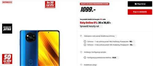 Акционная цена Xiaomi POCO X3 NFC на MediaMarkt