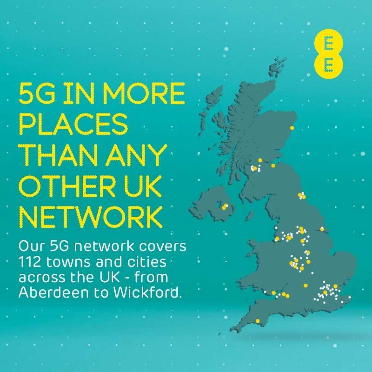 EE предлагает 5G еще в 12 точках перед запуском iPhone 12