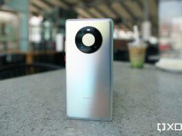Huawei Mate 40 Pro выглядит блестящим.