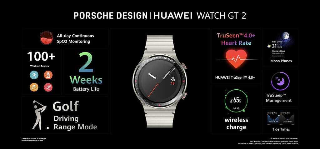 Huawei анонсирует Porsche Design Watch GT 2 и FreeBuds Studio