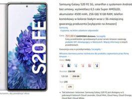 Samsung Galaxy S20 FE 5G (8/256 ГБ) в предзаказе на Amazon.de