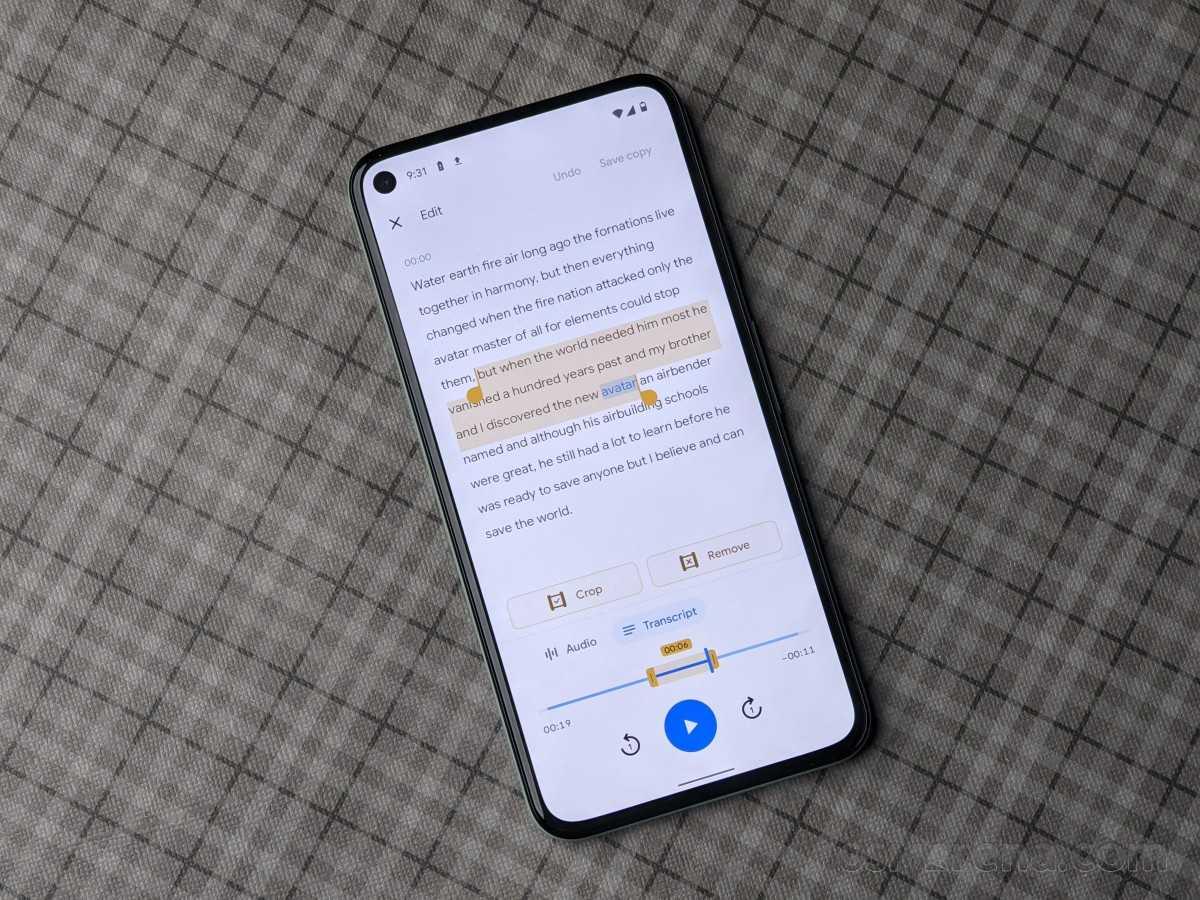 Приложение Google Recorder теперь позволяет редактировать записи с помощью транскрибированного текста.