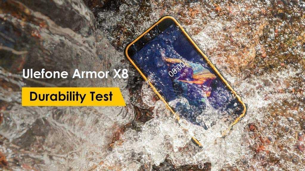 Прочный Ulefone Armor X8 прошел испытание на прочность