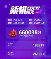 AnTuTu тестирует чипсет Apple A14: iPad Air (2020)