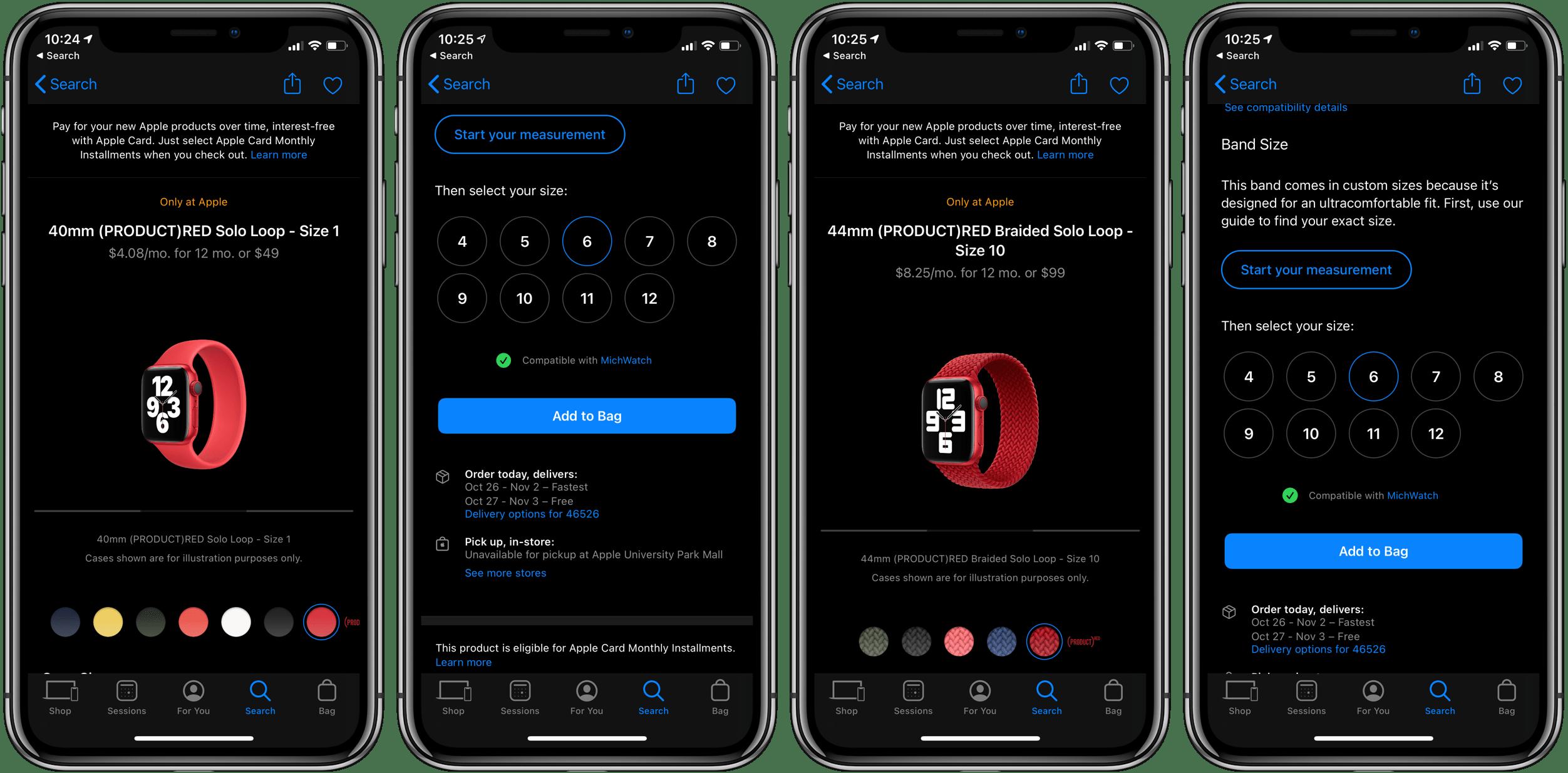 Все, что было с сентябрьского мероприятия Apple, теперь доступно в красных выпусках Solo Loop и Braided Solo Loop.