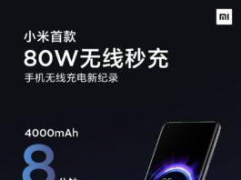 Xiaomi создает беспроводное зарядное устройство мощностью 80 Вт, которое заряжает аккумулятор за 19 минут