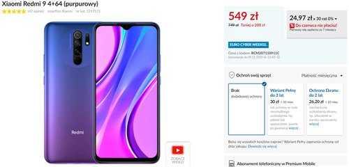 Акционная цена Xiaomi Redmi 9 в RTV Euro AGD
