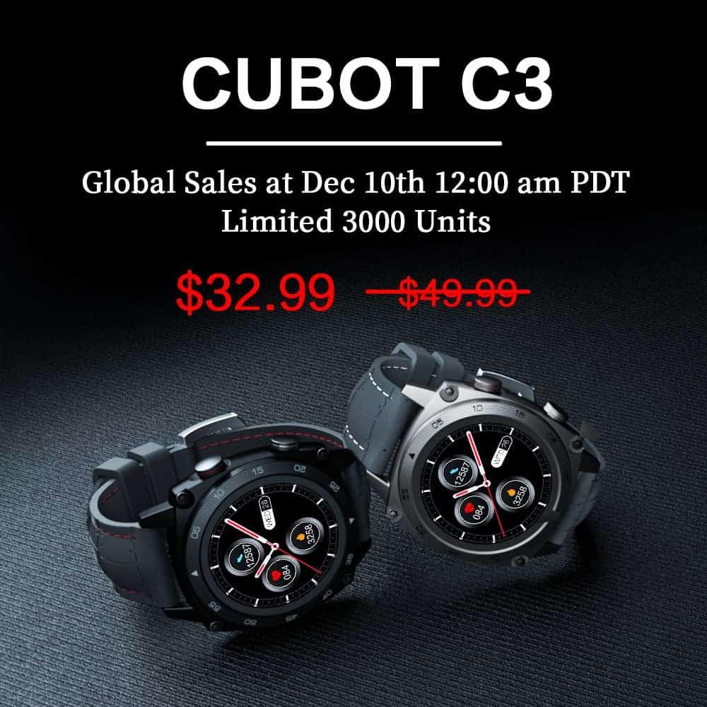 Cubot запускает умные часы C3 всего за 32,99 доллара