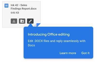 Офисное редактирование для Gmail