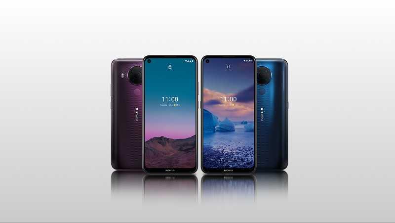 Nokia 5.4 синий фиолетовый сумерки ночь