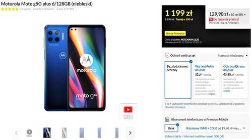 Motorola Moto G 5G Plus в продвижении RTV Euro AGD