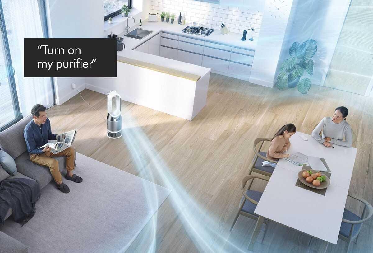 Выберите очистители воздуха и роботы-пылесосы Dyson, получив поддержку Google Assistant