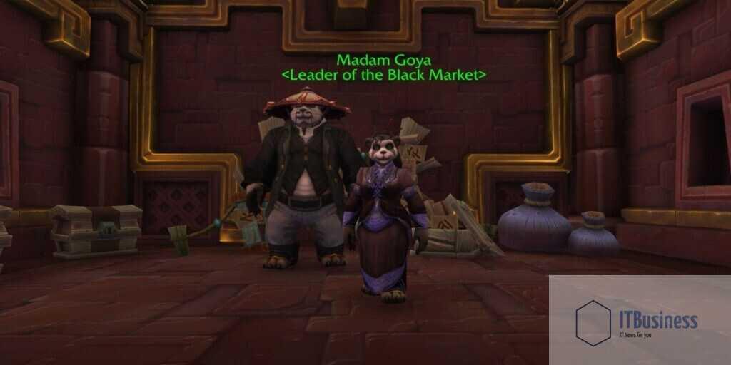 Лидер аукционного дома Черного рынка, мадам Гойя, в World of Warcraft: Shadowlands