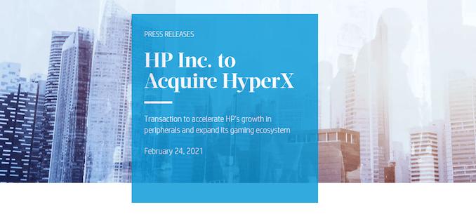 HP приобретает HyperX за 425 миллионов долларов