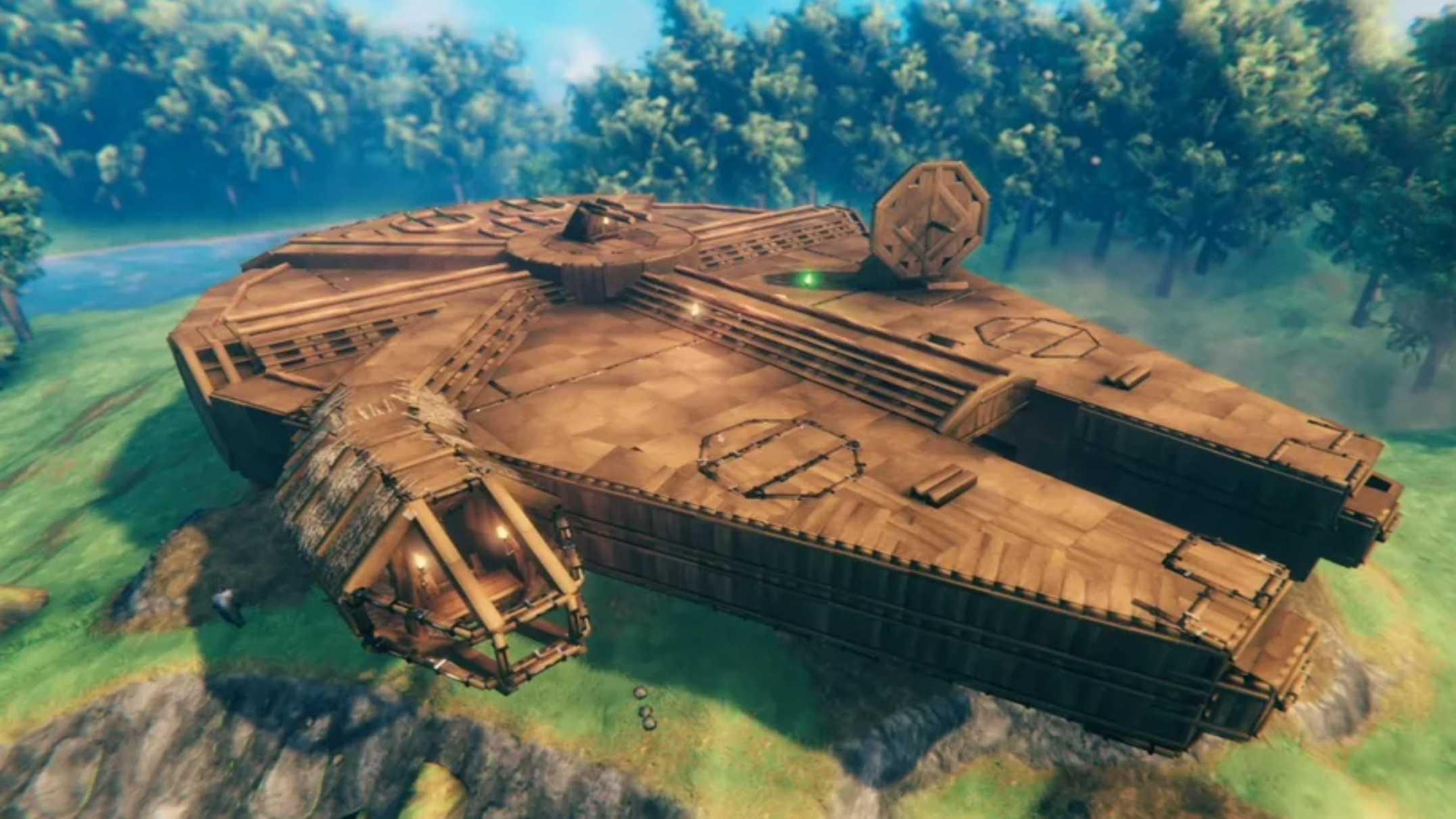 Этот игрок из Вальхейма построил деревенский сокол тысячелетия, подходящий для викингов