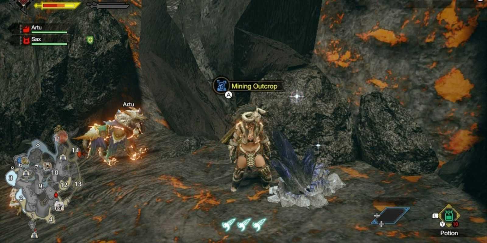 Как найти Драконитовую руду в игре Monster Hunter Rise
