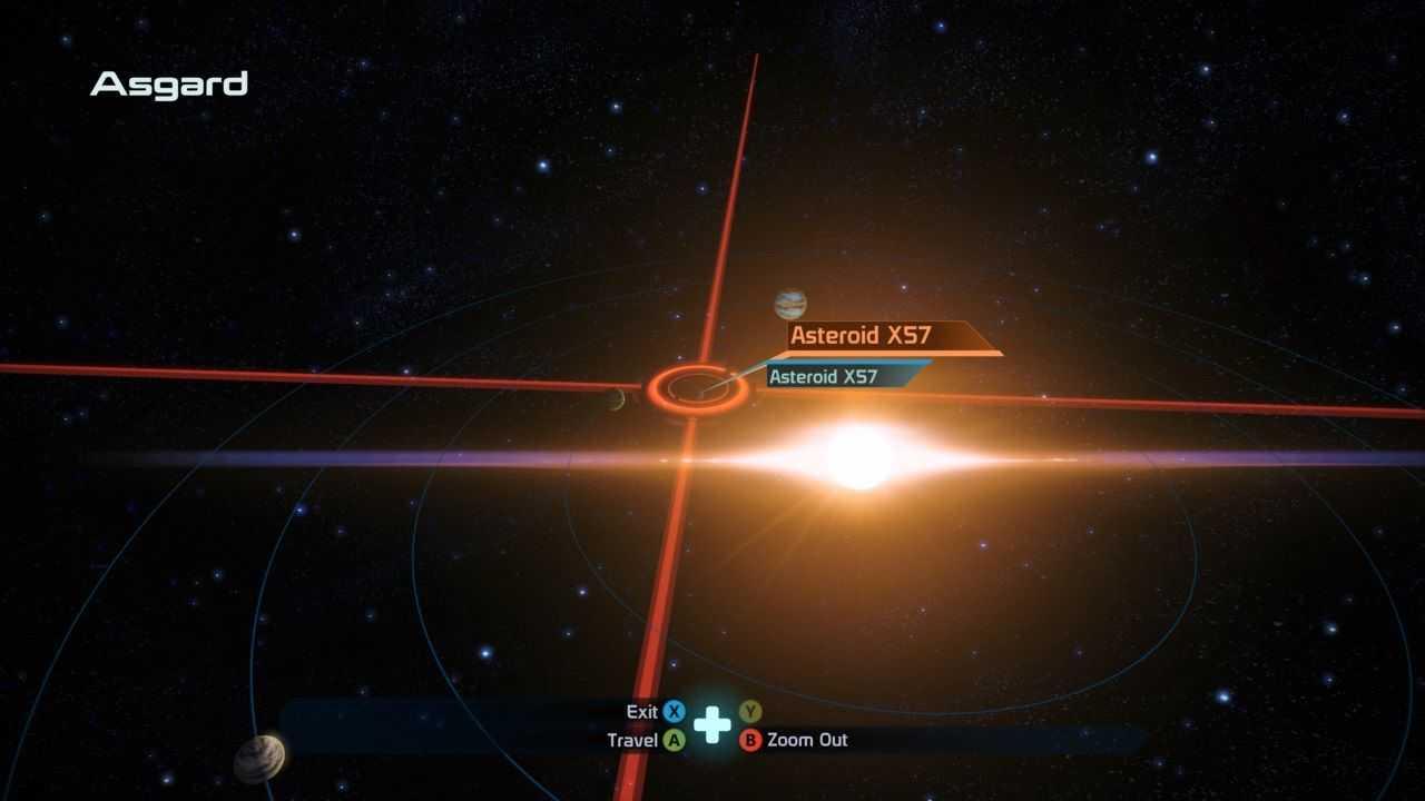 Местоположение астероида Mass Effect X57 на карте Gaslaxy