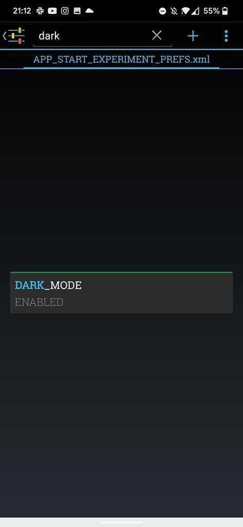 Включите темный режим Snapchat на Android с помощью приложения Preferences Manager.