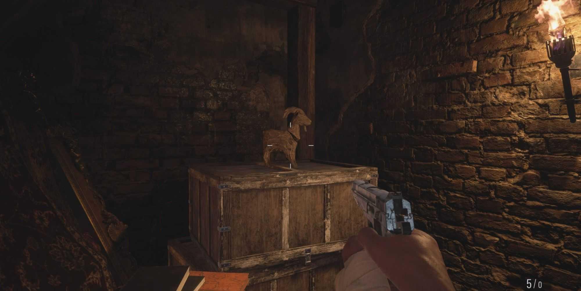 Все козы в локации защиты в Resident Evil Village